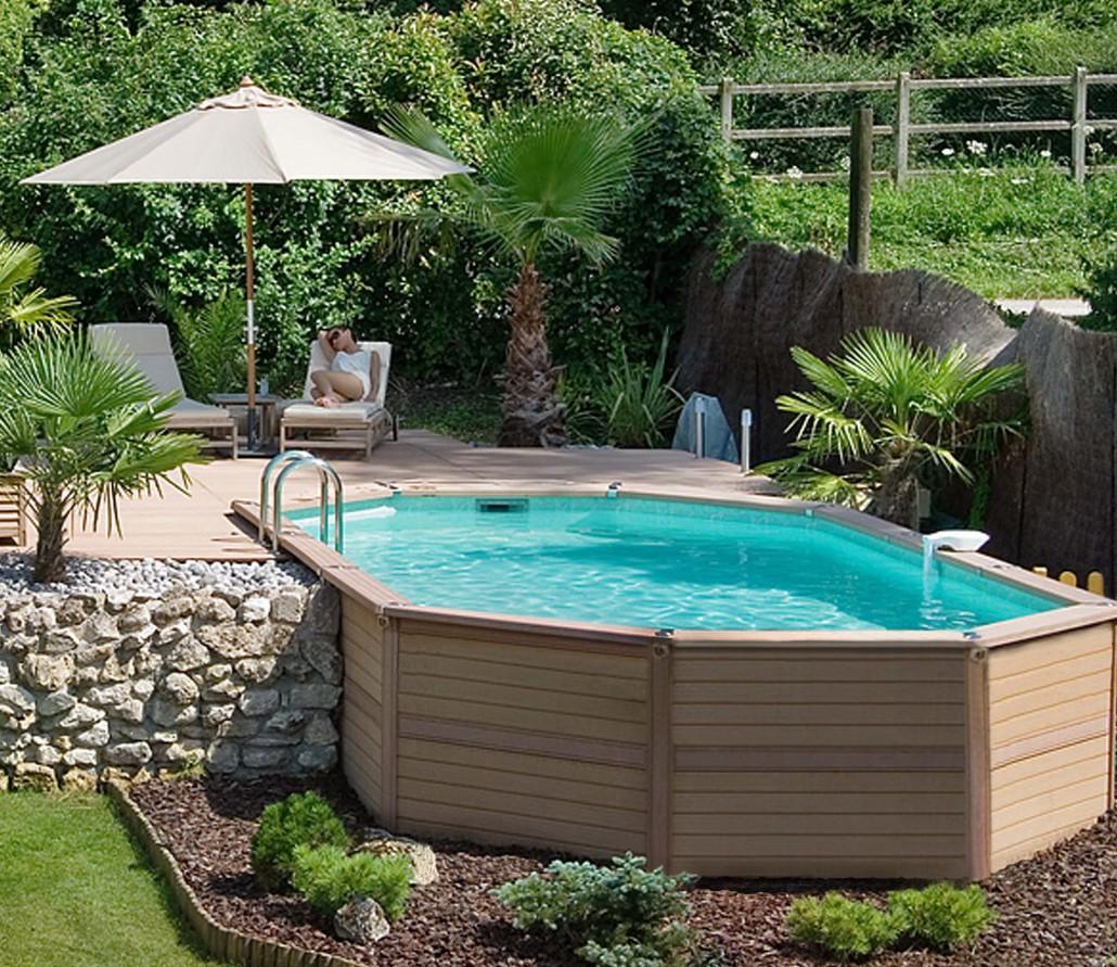 Schwimmbad bau poolbau am hang schwimmbecken in hanglage - Amenagement autour piscine bois ...