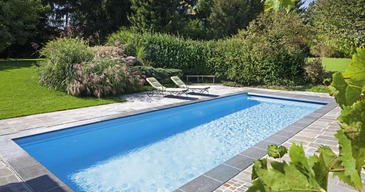 Ancona und twin zinsser poolbau for Gartenpool grau