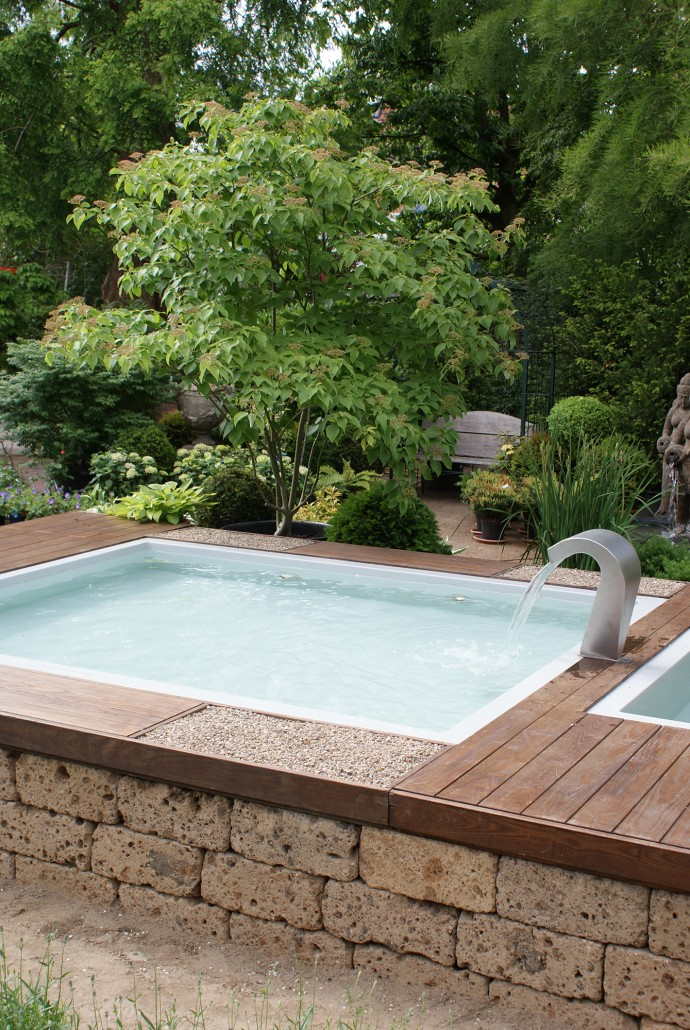 Lounge whirlpools zinsser poolbau - Mini pool terrasse ...